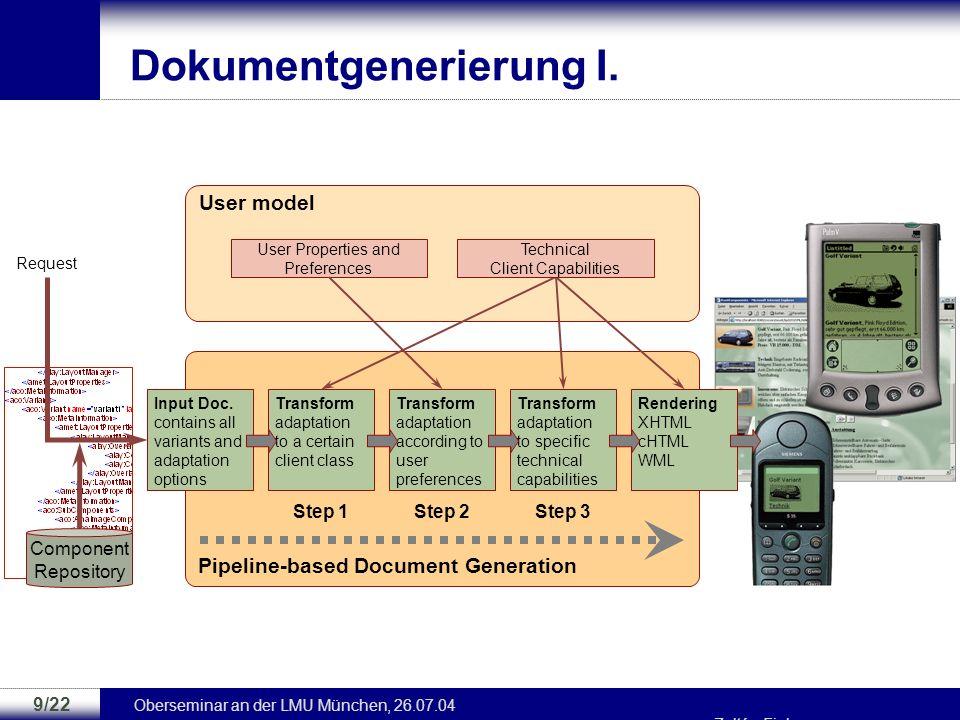 Oberseminar an der LMU München, 26.07.04 Zoltán Fiala 8/22 Beispiel: BorderLayout title picture2 … explanation