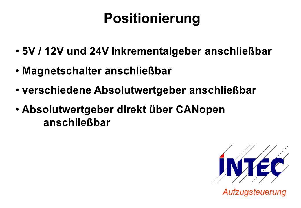 Aufzugsteuerung Positionierung 5V / 12V und 24V Inkrementalgeber anschließbar Magnetschalter anschließbar verschiedene Absolutwertgeber anschließbar A