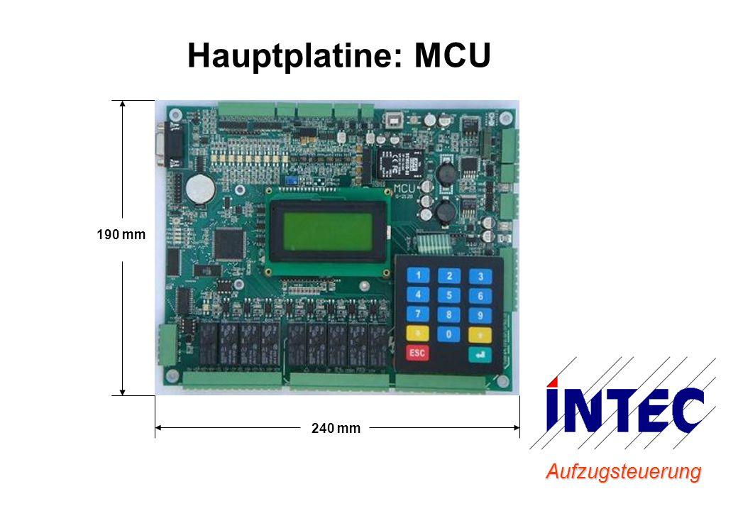Aufzugsteuerung Hauptplatine: MCU 240 mm 190 mm