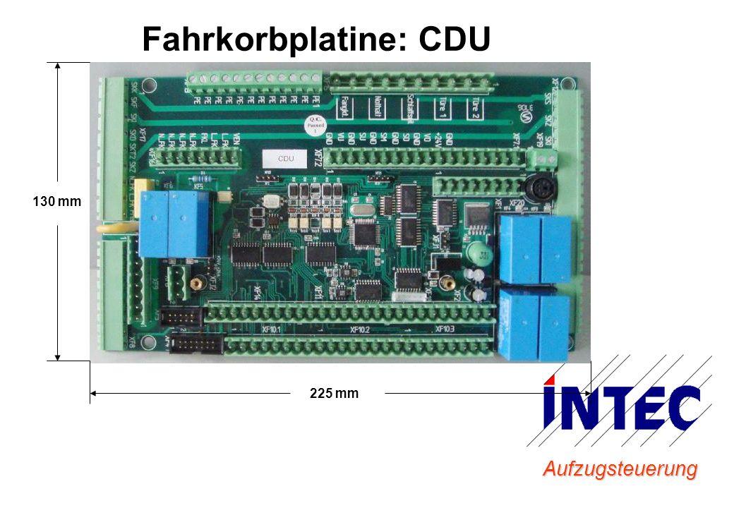 Aufzugsteuerung Fahrkorbplatine: CDU 130 mm 225 mm