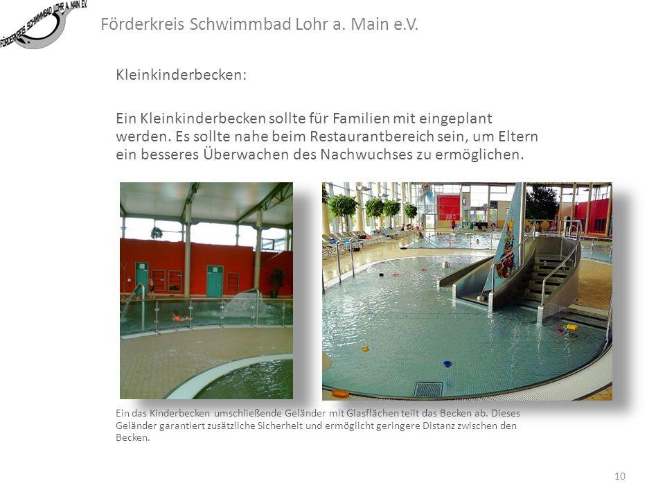 Förderkreis Schwimmbad Lohr a. Main e.V. Lehrschwimmbecken mit Hubboden: 9