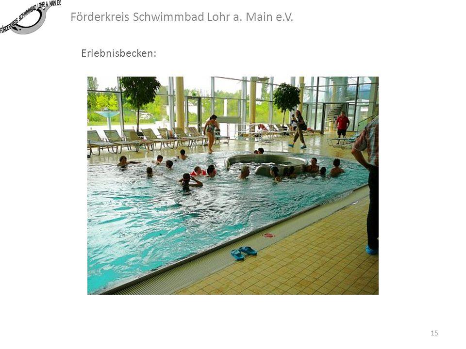 Förderkreis Schwimmbad Lohr a. Main e.V. Erlebnisbecken: Während des Aufenthalts im BULMARE konnte sehr gut beobachtet werden, wie die Besucher aller