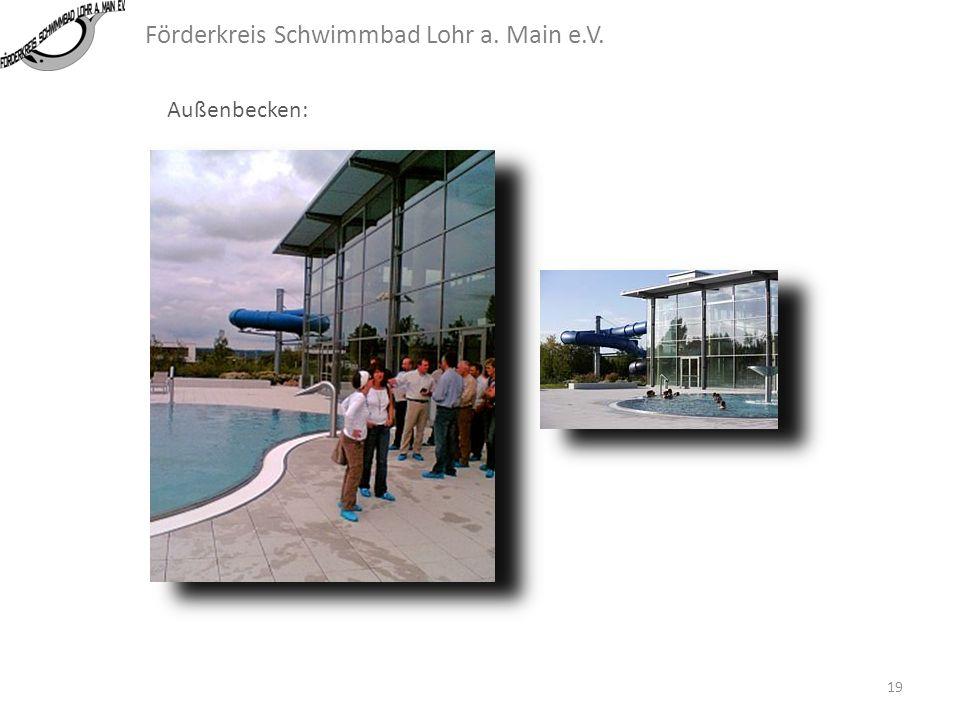 Förderkreis Schwimmbad Lohr a. Main e.V. Außenbecken: Die Möglichkeit, vom Halleninneren ins Freie durch ein kombiniertes Becken zu gelangen, ist auf