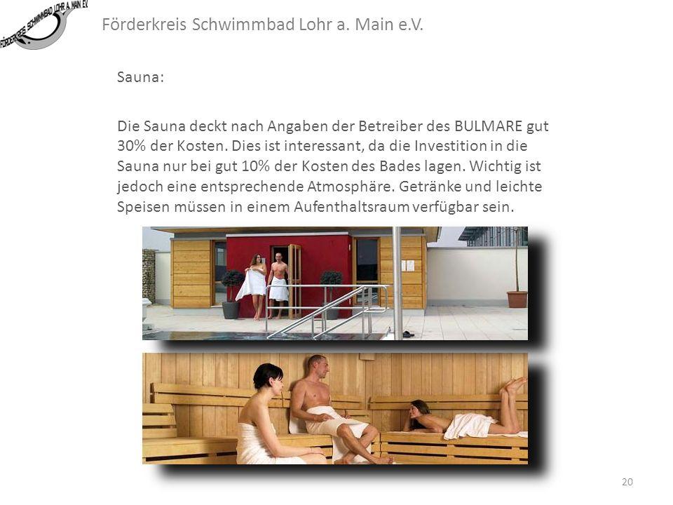 Förderkreis Schwimmbad Lohr a. Main e.V. Außenbecken: 19