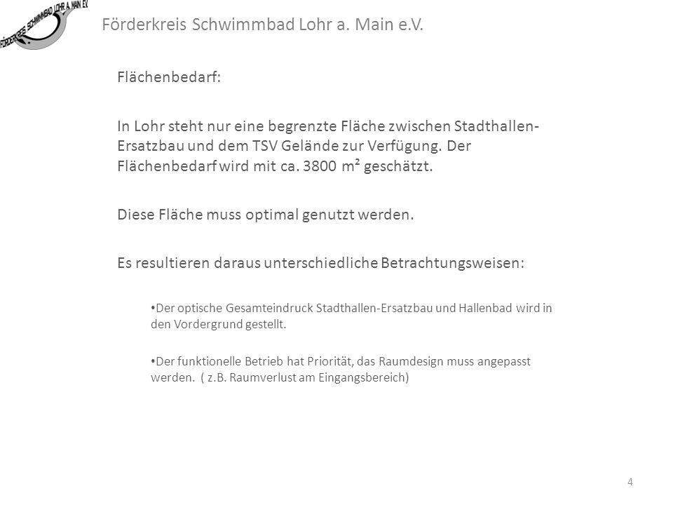Förderkreis Schwimmbad Lohr a. Main e.V. Folgende Parallelen / Differenzen existieren: Die Angaben zu Lohr beziehen sich auf die bisher veröffentlicht