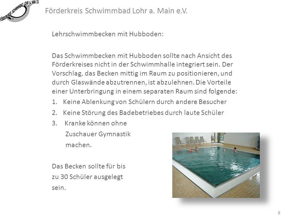 Förderkreis Schwimmbad Lohr a. Main e.V. Sportbecken: 7