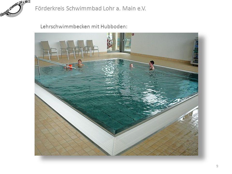Förderkreis Schwimmbad Lohr a. Main e.V. Lehrschwimmbecken mit Hubboden: Das Schwimmbecken mit Hubboden sollte nach Ansicht des Förderkreises nicht in