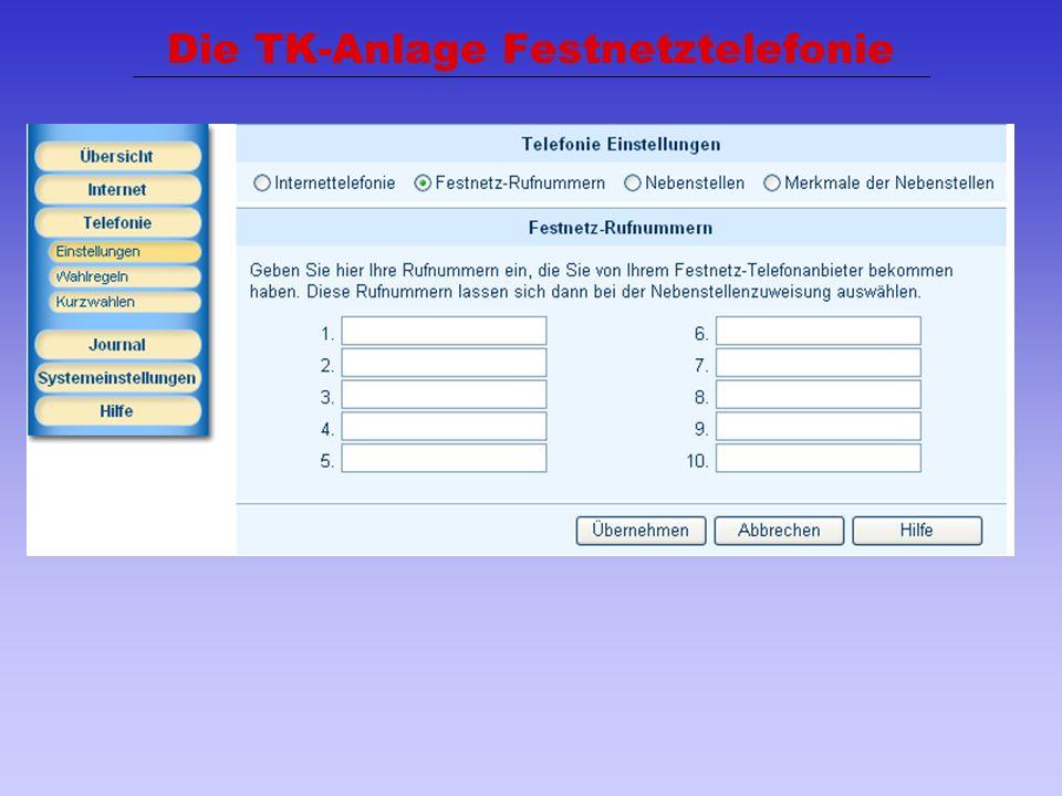 40 Die TK-Anlage Festnetztelefonie
