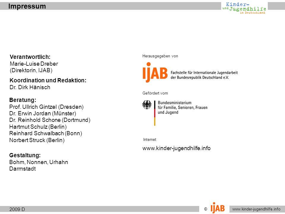 2009 © www.kinder-jugendhilfe.info Aufgaben und ZieleAuftrag und Anspruch 3.1.3 Jugendhilfe zwischen Prävention, Leistungserbringung und Intervention