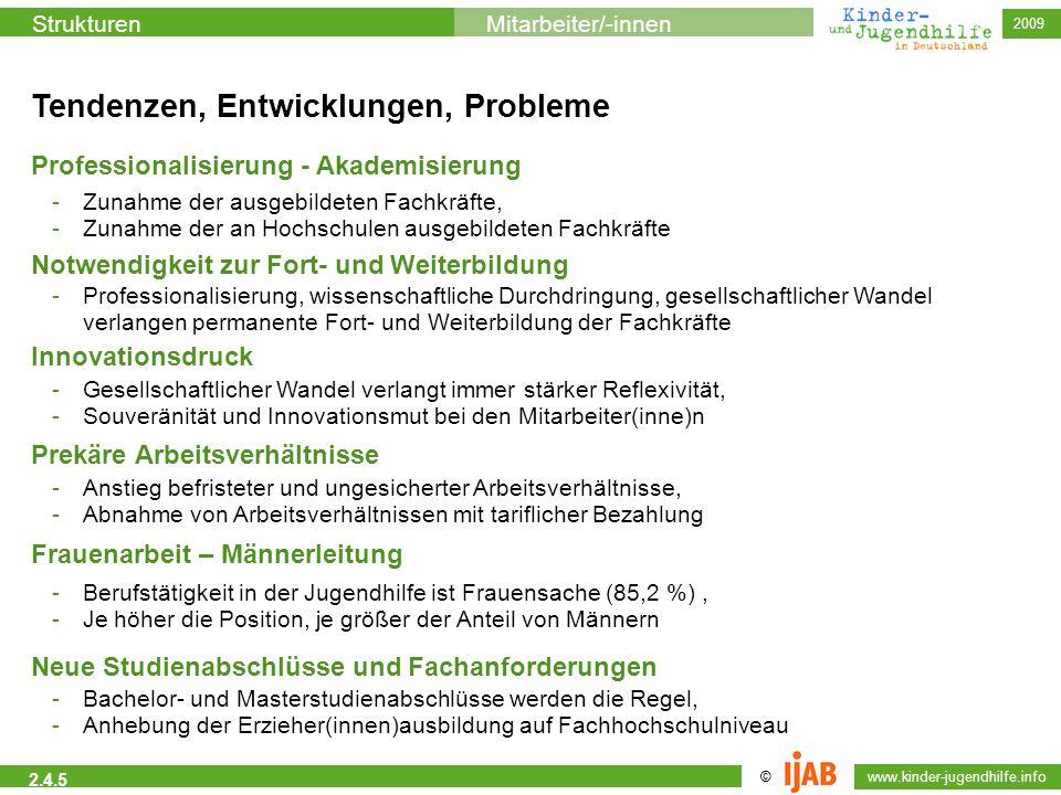 © www.kinder-jugendhilfe.info StrukturenMitarbeiter/-innen 2009 2.4.5 Tendenzen, Entwicklungen, Probleme Notwendigkeit zur Fort- und Weiterbildung -Pr