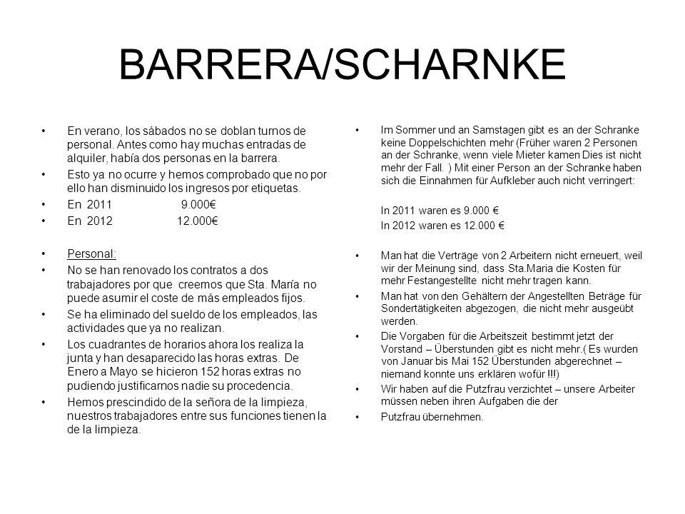 BARRERA/SCHARNKE En verano, los sábados no se doblan turnos de personal. Antes como hay muchas entradas de alquiler, había dos personas en la barrera.