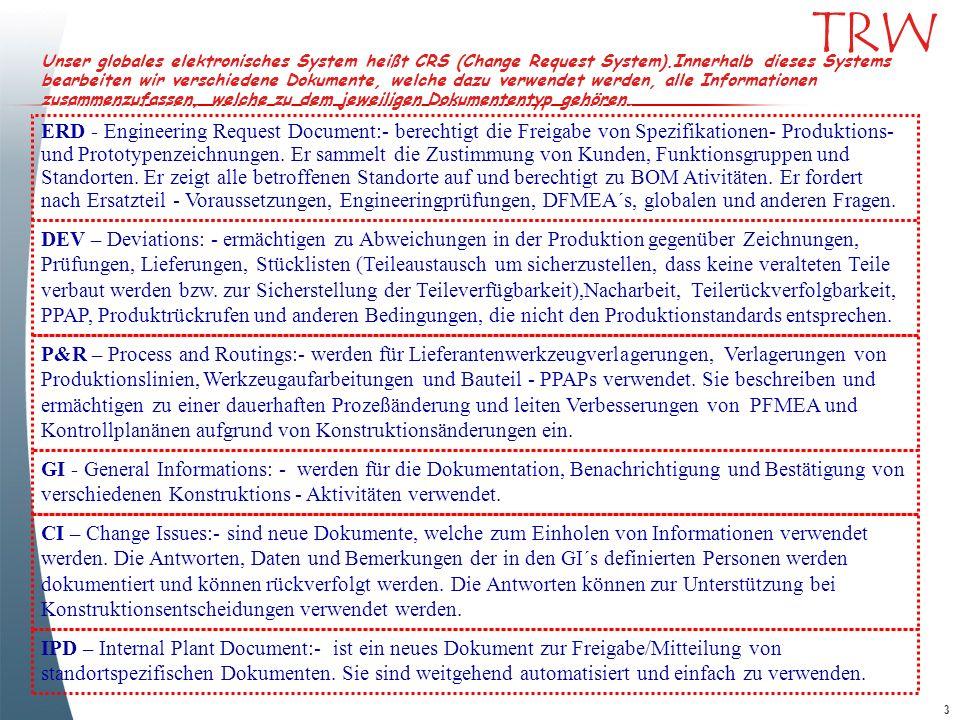 24 TRW Part Master Fortsetzung Verknüpfung zu allen registrierten Zeichnungen ( markups, released, u.s.w..) 6L3435611B08AAW 6L3435611B08ABWB