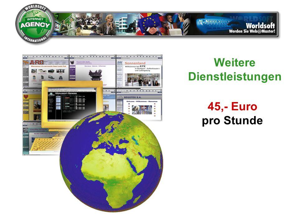 45,- Euro pro Stunde Weitere Dienstleistungen