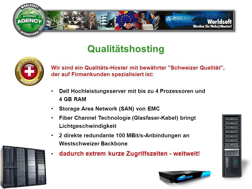 Qualitätshosting Wir sind ein Qualitäts-Hoster mit bewährter