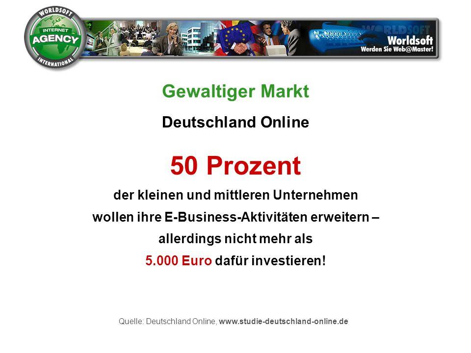 50 Prozent der kleinen und mittleren Unternehmen wollen ihre E-Business-Aktivitäten erweitern – allerdings nicht mehr als 5.000 Euro dafür investieren