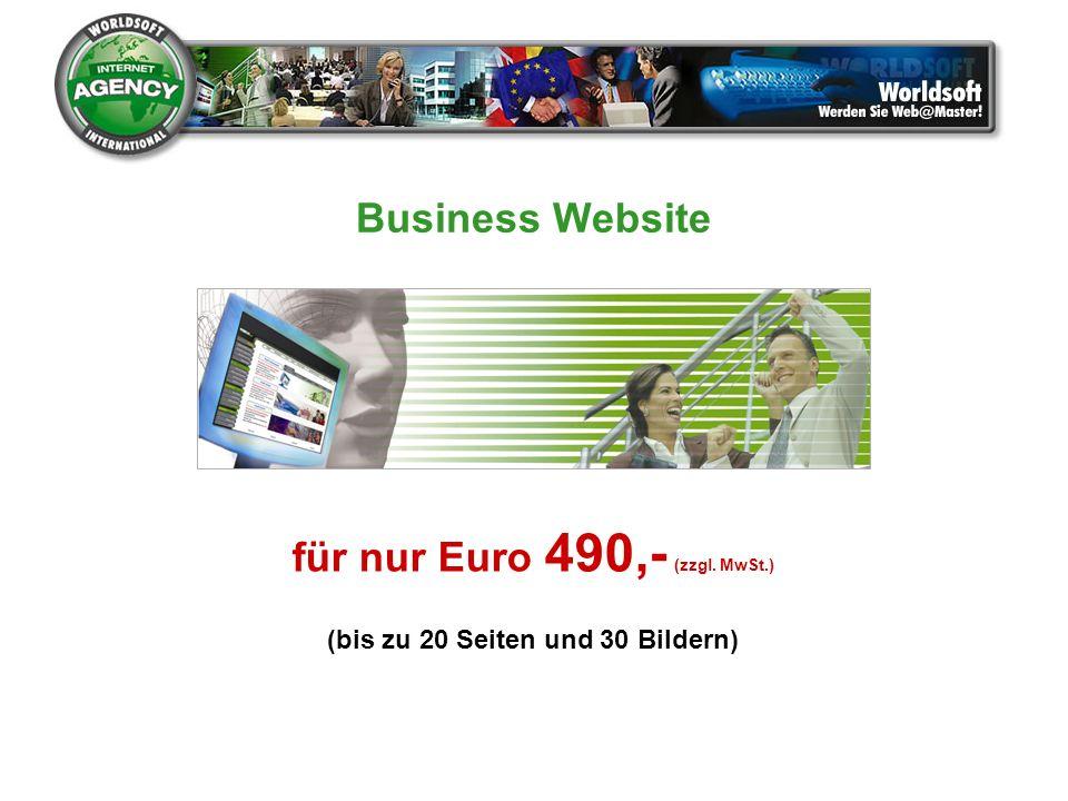 30 Artikel bereits eingerichtet Artikel-Suchfunktion Wahl der Liefer- und Zahlungsarten Warenkorb PayPal für nur Euro 490,- (zzgl.