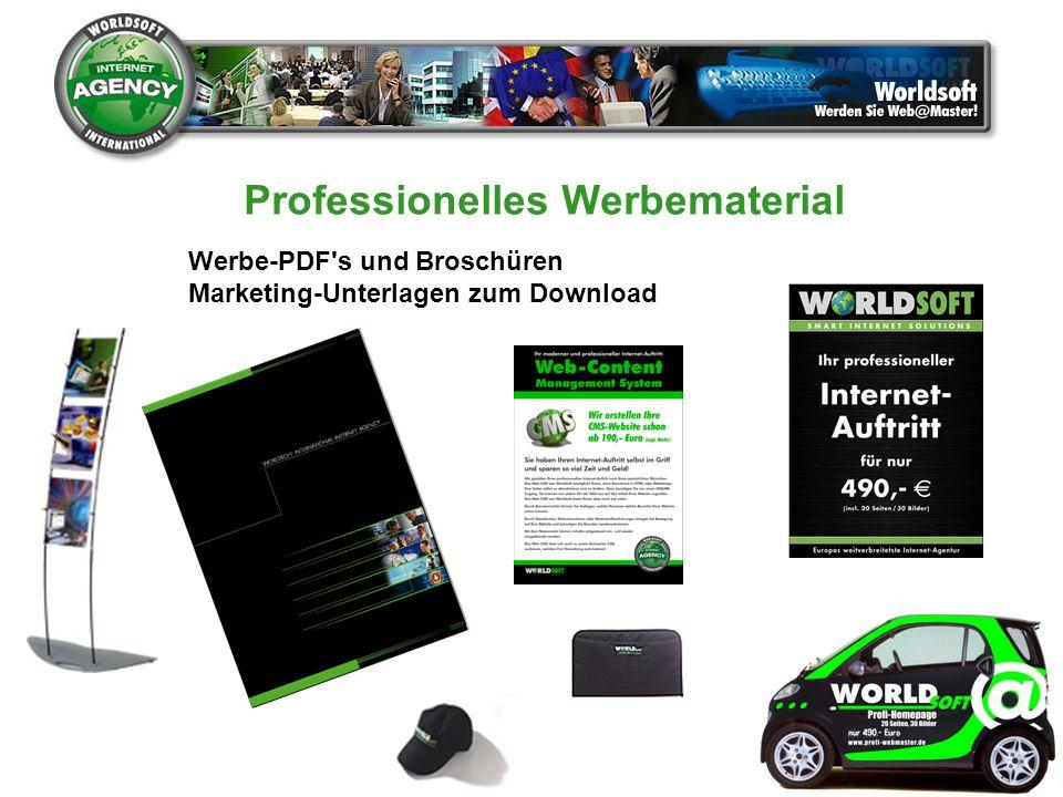 Werbe-PDF's und Broschüren Marketing-Unterlagen zum Download Professionelles Werbematerial