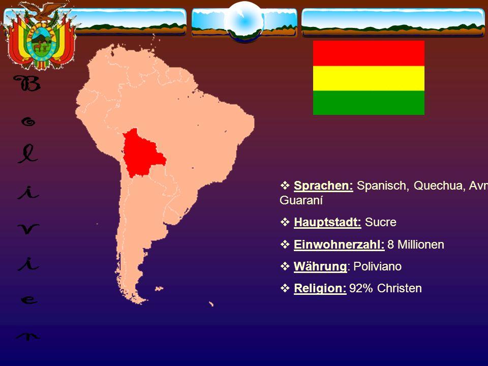 Sprache: Spanisch Hauptstadt: Santiago Einwohner: 15 Millionen Währung: Peso wichtige Persönlichkeiten: Isabel Allende, Victor Jara (Sänger), Gabriela Mistral (Nobelpreisträger)