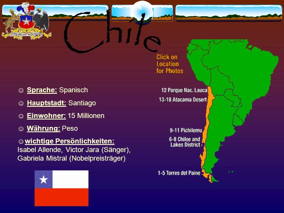 Sprache: Spanisch Hauptstadt: Quito Einwohnerzahl: 13 Millionen Währung: US Dollar