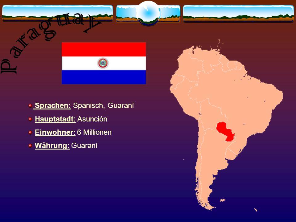 Sprachen: Spanisch, Aymara, Quechua Hauptstadt: Lima Einwohner: 28 Millionen Währung: Neuer Sol Religion: 90% Christen wichtige Persönlichkeiten: Mario Vargas Llosa (Schriftsteller)