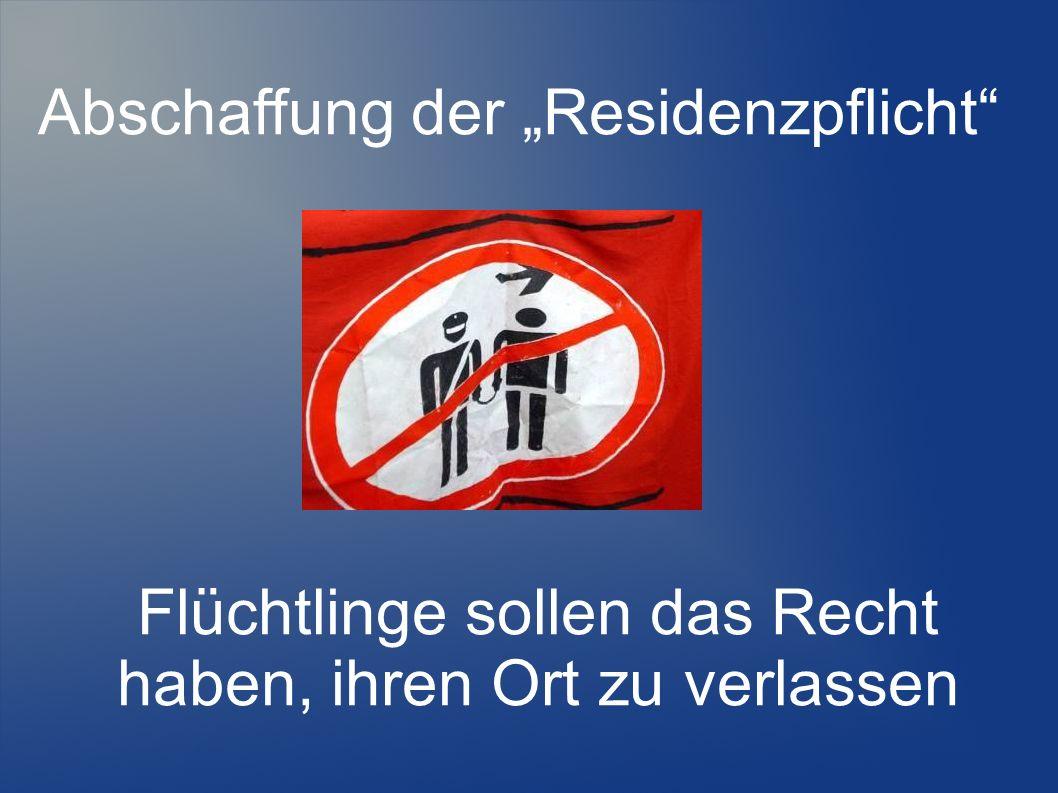 Bleiberecht für alle, die mindestens 5 Jahre in Deutschland leben
