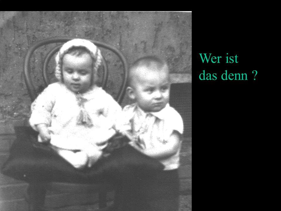 Das sind die gleichen Personen 68 Jahre später.