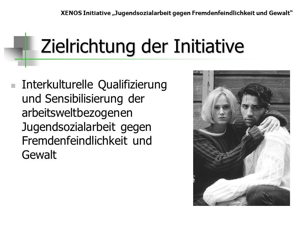 Zielrichtung der Initiative Interkulturelle Qualifizierung und Sensibilisierung der arbeitsweltbezogenen Jugendsozialarbeit gegen Fremdenfeindlichkeit