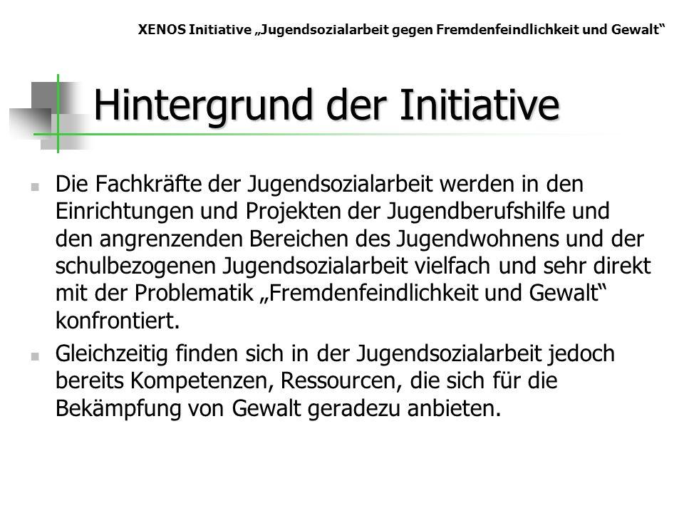 Hintergrund der Initiative Die Fachkräfte der Jugendsozialarbeit werden in den Einrichtungen und Projekten der Jugendberufshilfe und den angrenzenden