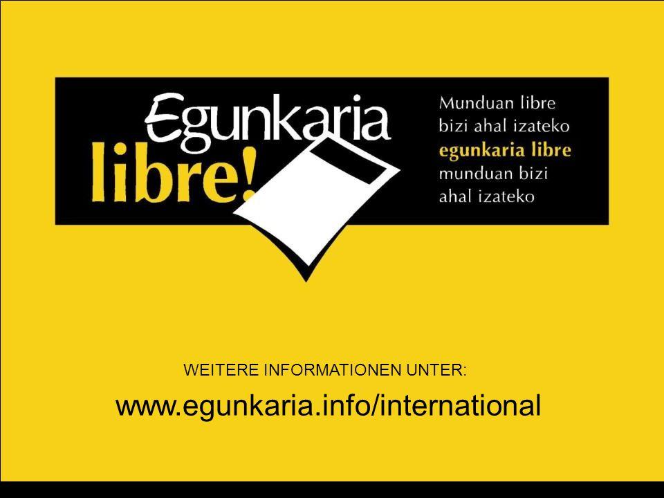 WEITERE INFORMATIONEN UNTER: www.egunkaria.info/international