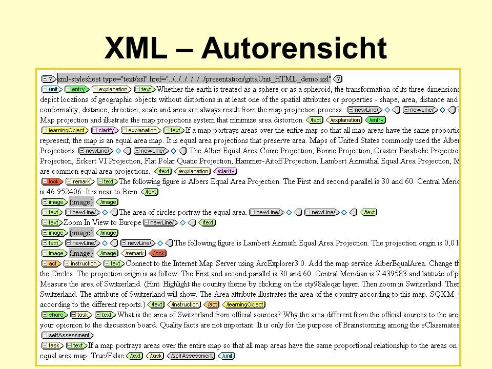 XML – Autorensicht