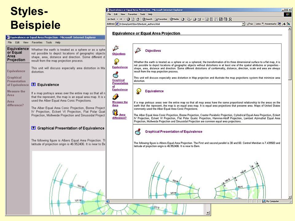 Design Styles- Beispiele