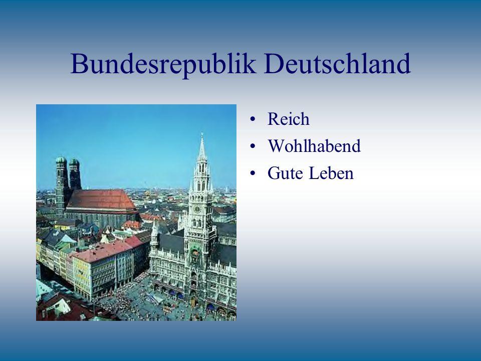 Bundesrepublik Deutschland Reich Wohlhabend Gute Leben