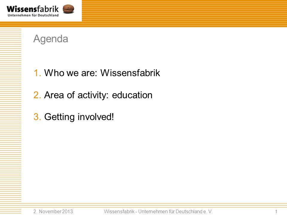 Wissensfabrik – Unternehmen für Deutschland e. V. Johanna Coleman EUSEA Conference