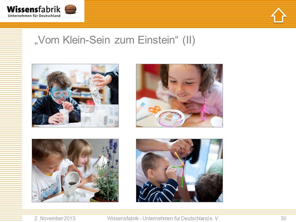 Vom Klein-Sein zum Einstein (II) Wissensfabrik - Unternehmen für Deutschland e.