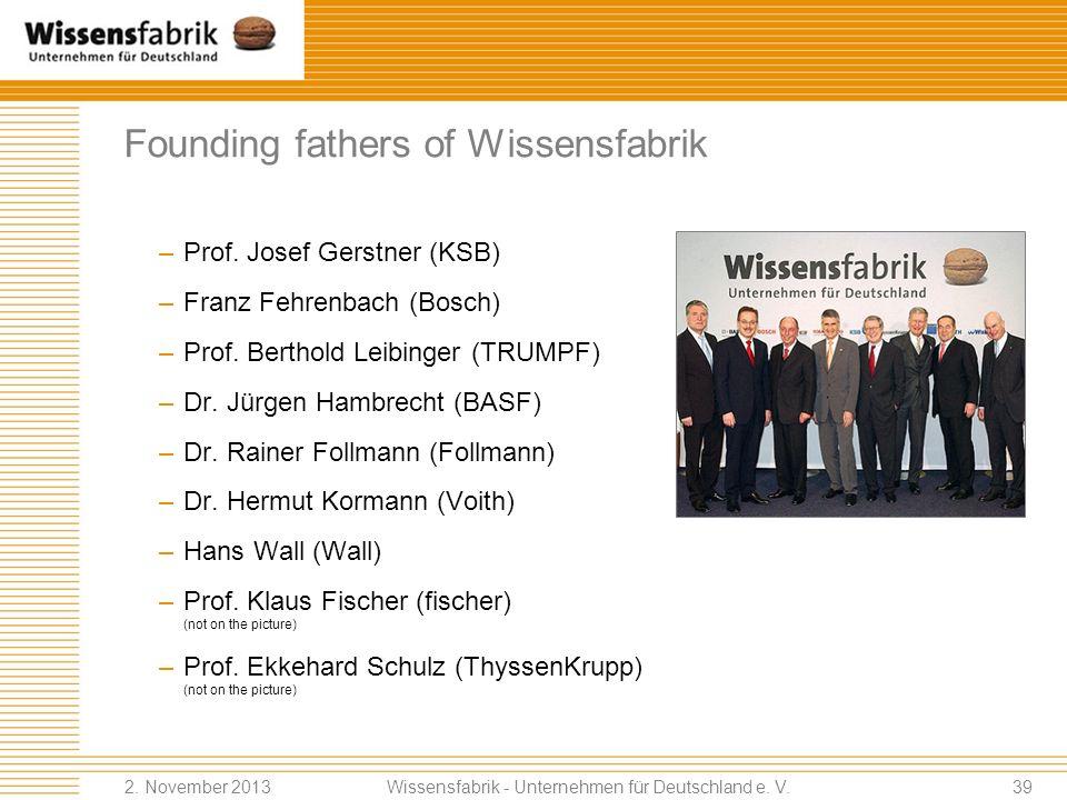 Founding fathers of Wissensfabrik Wissensfabrik - Unternehmen für Deutschland e.