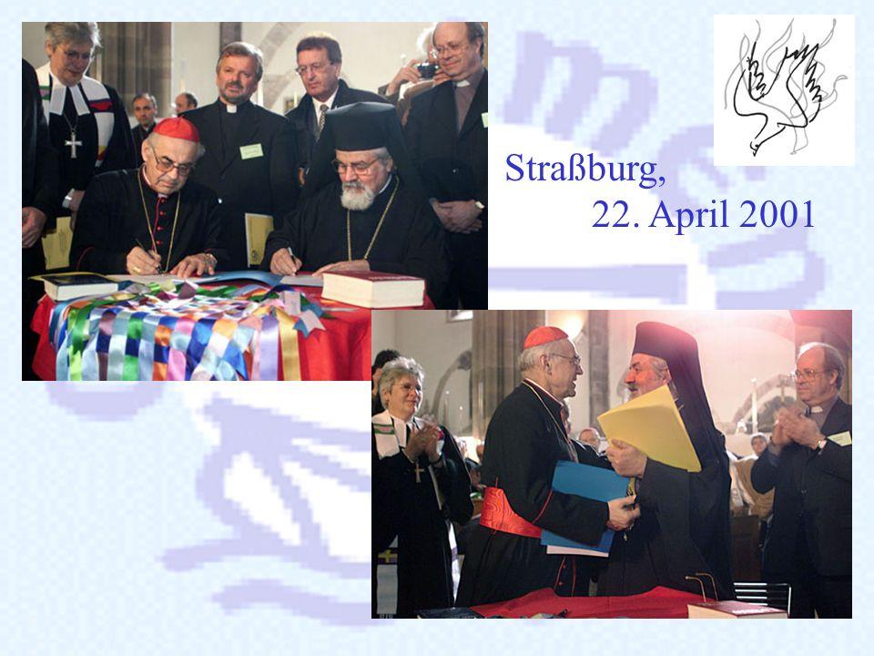 1.3. Die Unterzeichnung Ostern 2001 wurde die Charta vom Präsidenten der Konferenz Europäischer Kirchen, Metropolit Jeremie und vom Präsidenten der Eu