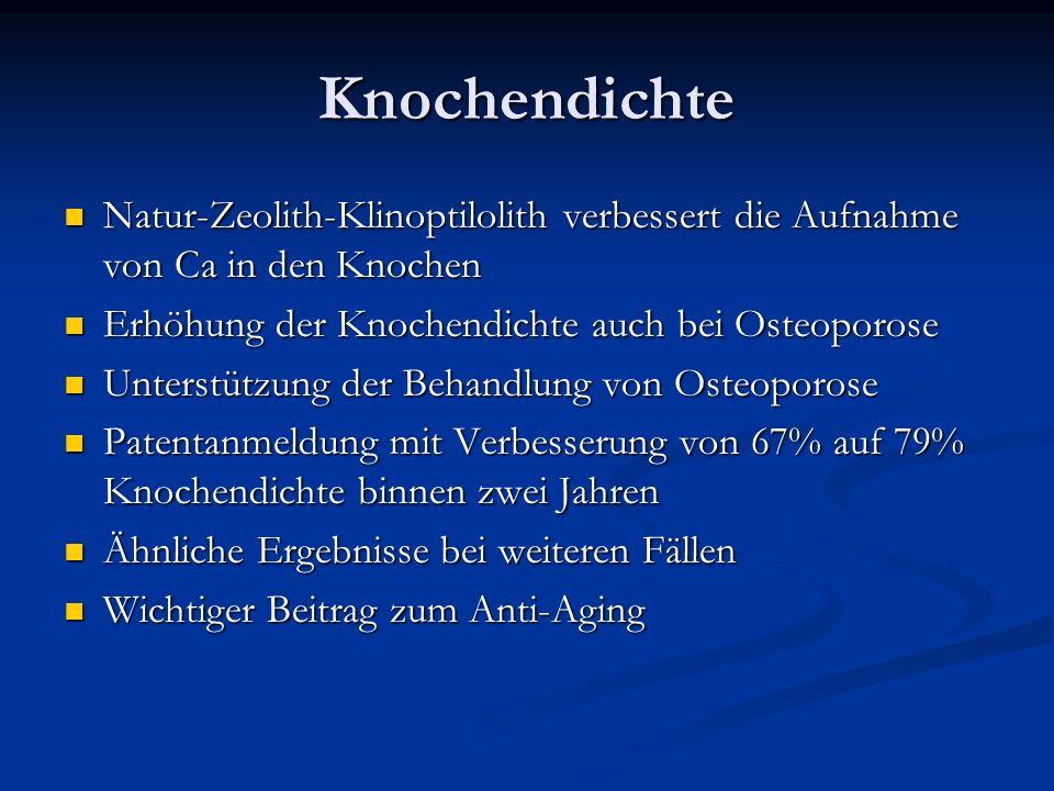Knochendichte Natur-Zeolith-Klinoptilolith verbessert die Aufnahme von Ca in den Knochen Natur-Zeolith-Klinoptilolith verbessert die Aufnahme von Ca i