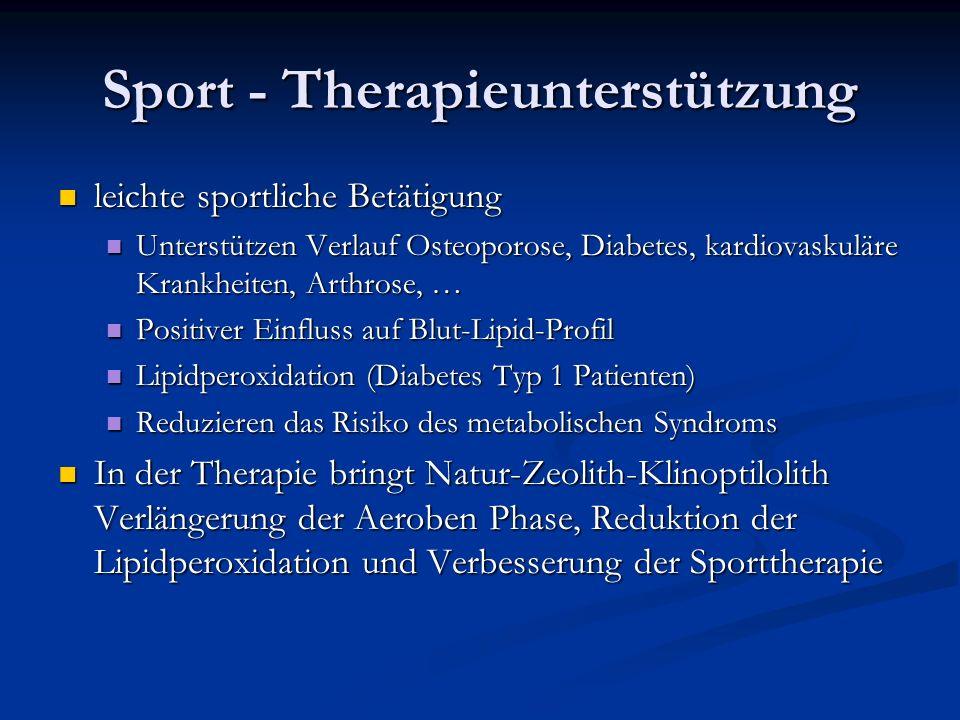 Sport - Therapieunterstützung leichte sportliche Betätigung leichte sportliche Betätigung Unterstützen Verlauf Osteoporose, Diabetes, kardiovaskuläre