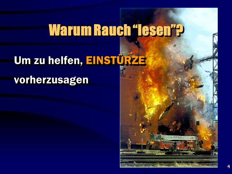 15 BACKDRAFT Zur Erinnerung – Ein Backdraft wird durch O 2 ausgelöst, der in einen Raum gelangt, in dem ein Schwelbrand herrscht.