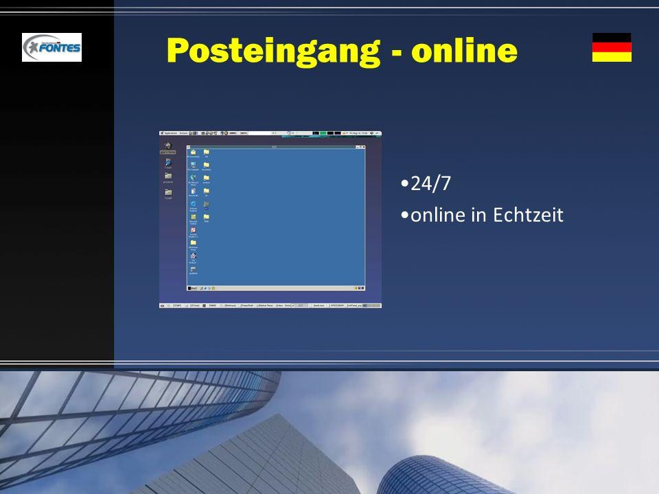 Posteingang - online 24/7 online in Echtzeit