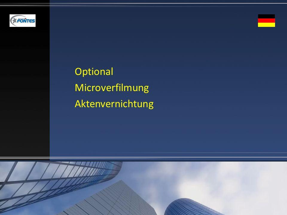 Optional Microverfilmung Aktenvernichtung