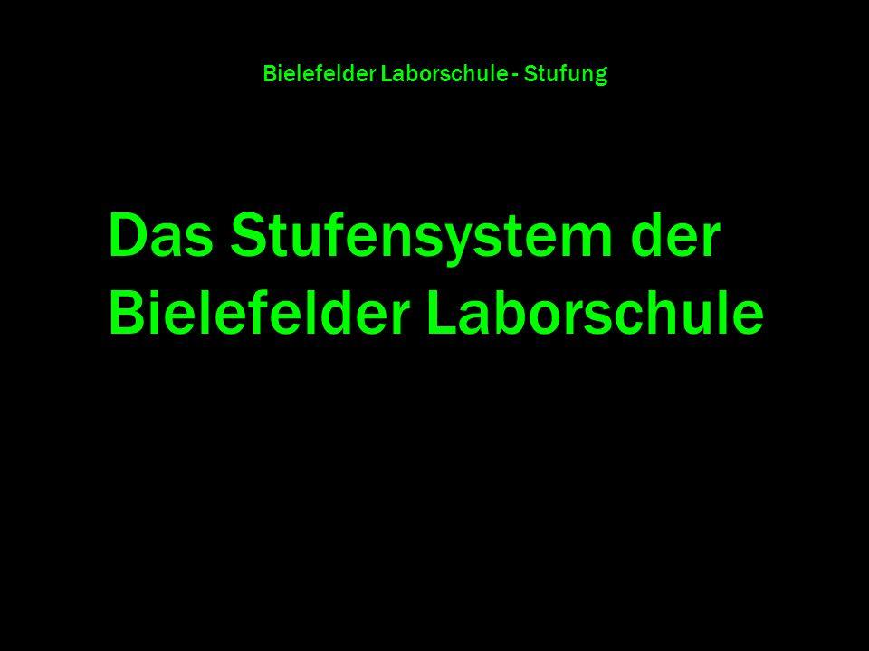 Bielefelder Laborschule - Stufung Das Stufensystem der Bielefelder Laborschule