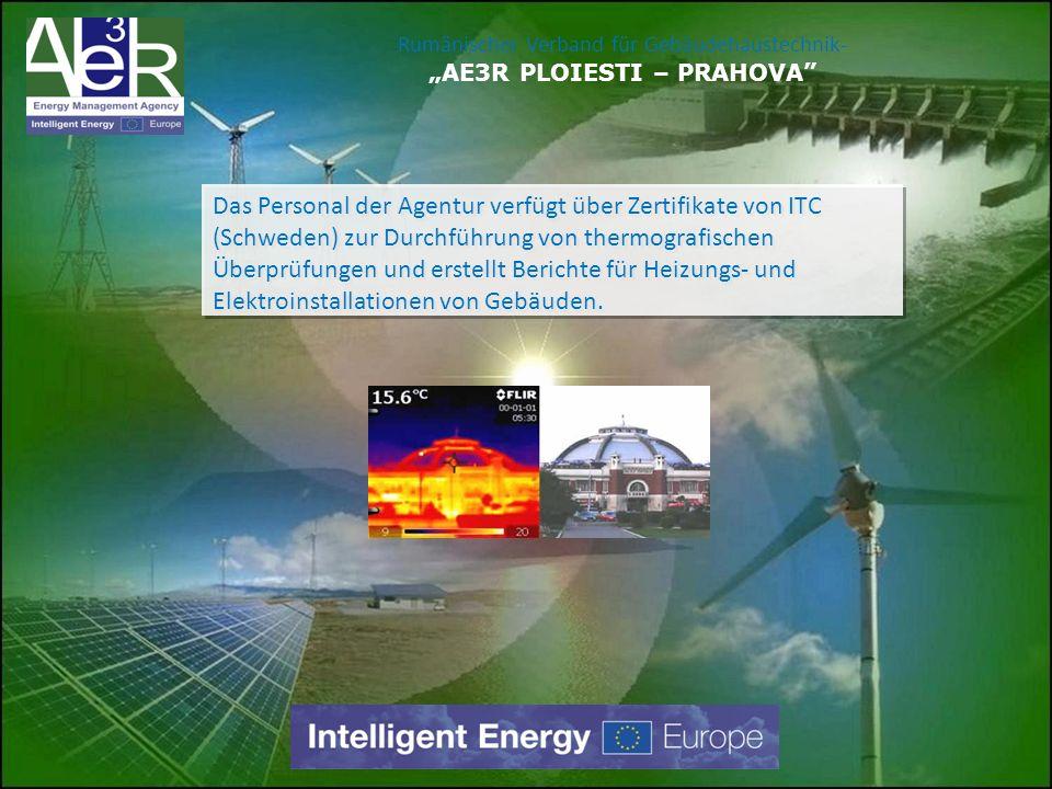Das Personal der Agentur verfügt über Zertifikate von ITC (Schweden) zur Durchführung von thermografischen Überprüfungen und erstellt Berichte für Hei