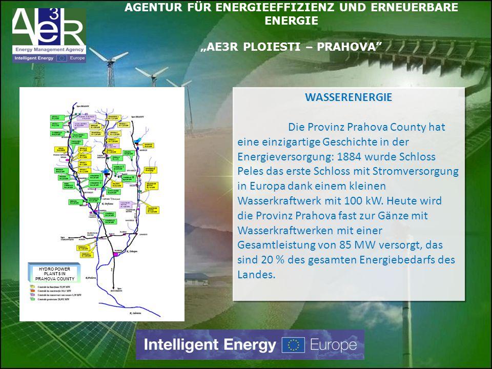 WINDENERGIE Die Provinz Prahova hat einige für Windenergieinvestionen geeignete Standorte mit laufenden privaten und öffentichen Projekten-die Gesamtleistung wird auf 100 MW geschätzt.