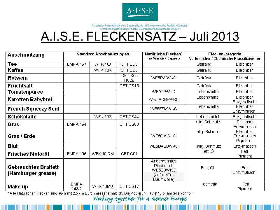 A.I.S.E. FLECKENSATZ – Juli 2013