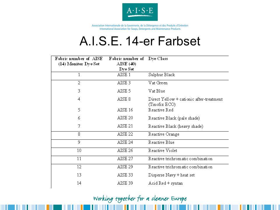 A.I.S.E. 14-er Farbset