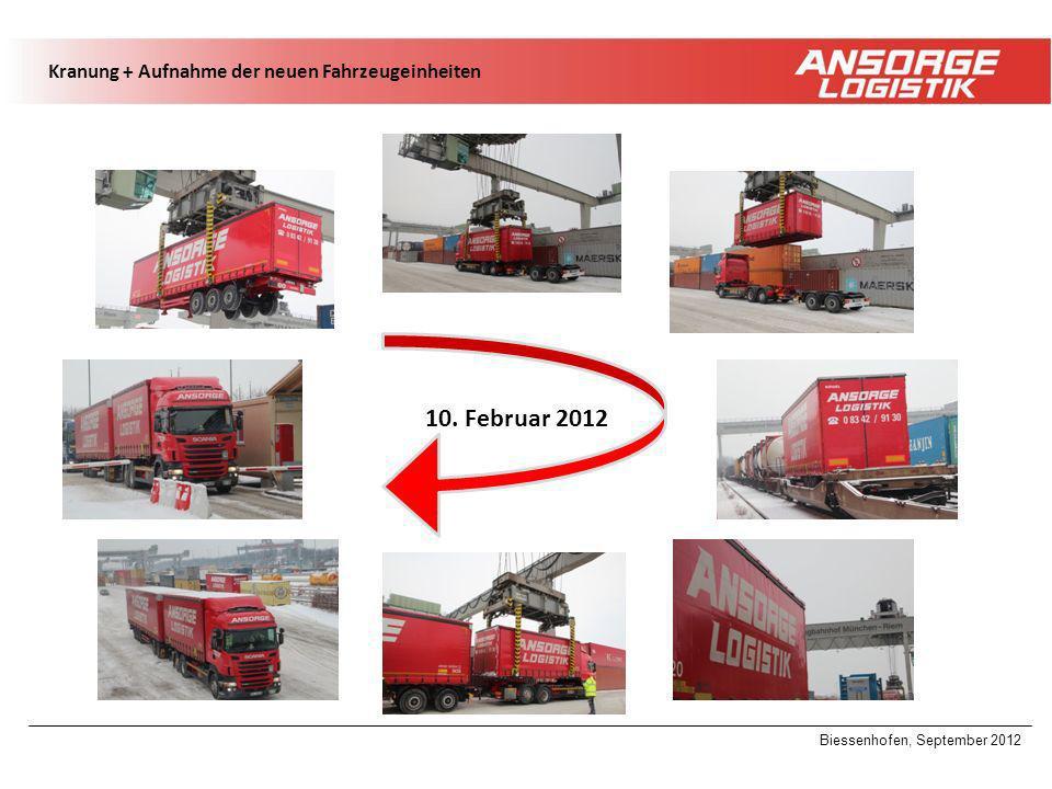 Biessenhofen, September 2012 10. Februar 2012 Kranung + Aufnahme der neuen Fahrzeugeinheiten