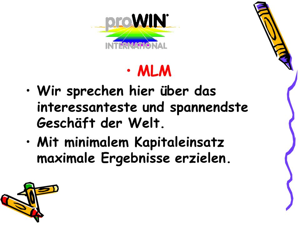 MLM Wir sprechen hier über das interessanteste und spannendste Geschäft der Welt. Mit minimalem Kapitaleinsatz maximale Ergebnisse erzielen.