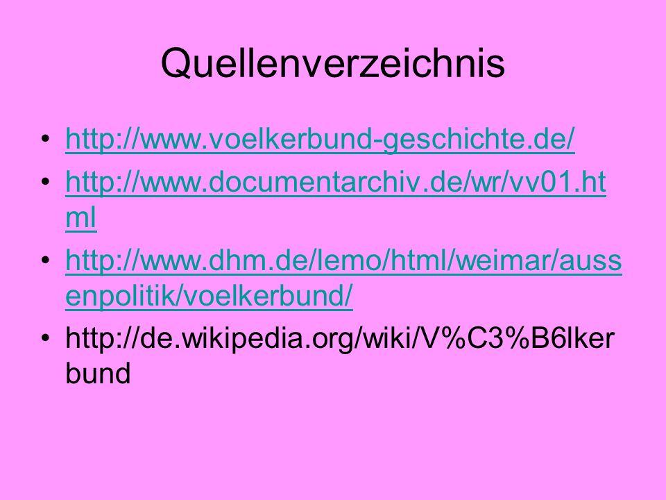 Quellenverzeichnis http://www.voelkerbund-geschichte.de/ http://www.documentarchiv.de/wr/vv01.ht mlhttp://www.documentarchiv.de/wr/vv01.ht ml http://w