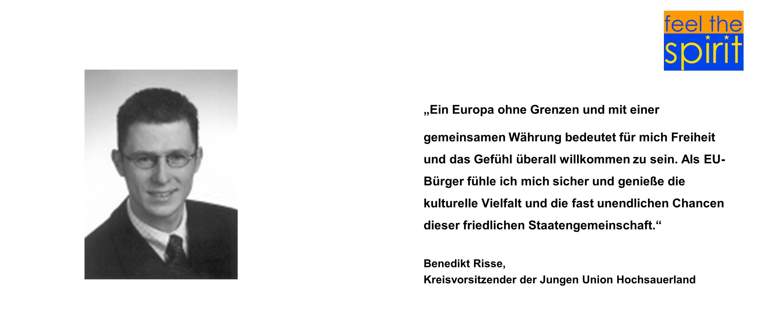 Ein Europa ohne Grenzen und mit einer gemeinsamen Währung bedeutet für mich Freiheit und das Gefühl überall willkommen zu sein. Als EU- Bürger fühle i